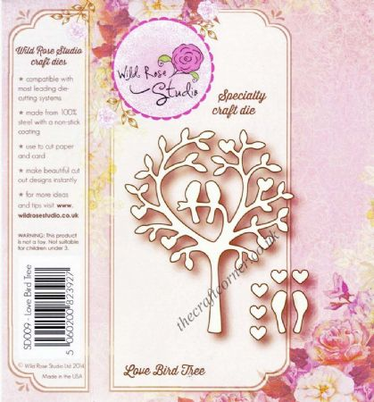 Love Bird Tree Speciality Craft Die By Wild Rose Studio - SD009